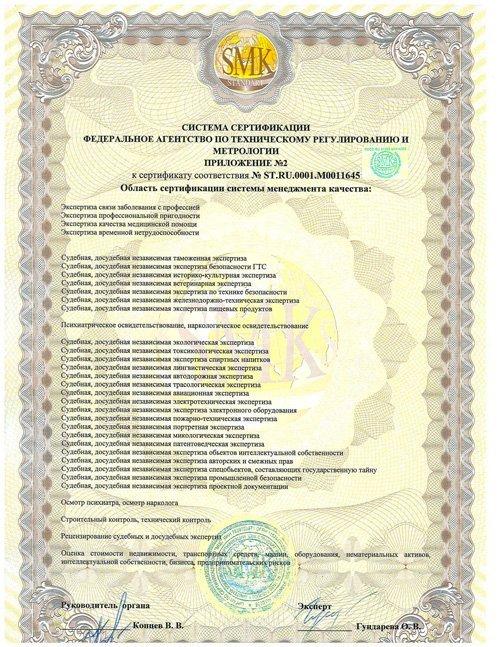 Система сертификации приложение №2