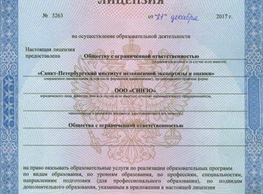 СИНЭО получил образовательную лицензиюна дополнительное профессиональное образование!